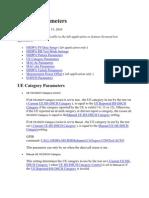 HSDPA Parameters