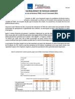 Panel JDE TMO Régions, vague 3  le bilan du quinquennat de Nicolas Sarkozy