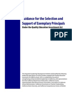 Guidance for the Selection and Support of Examplary Principals