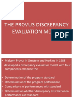 The Provus Discrepancy Evaluation Model