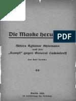1931 Hitlers Agitator Ahlemann - Kurt Zemke