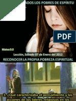 Lección 01 - Bienaventurados los pobres de espíritu