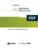 Mitel SX-2000 LW 32 Rev 1.0 Install & Maint