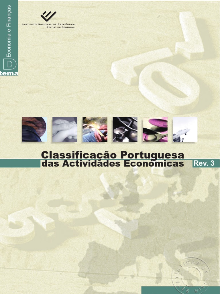Classificação Portuguesa das Actividades Económicas  CAE-Revisão 3  (INE  2007) e402554997