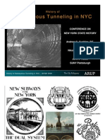 History of Subaqueous Tunneling in New York City - by Andrew Cushing and Nik Sokol - Powerpoint Presentation