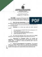 J&K Public Service Gurantee Rules