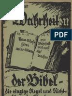 Fügner, Kurt - Die Wahrheiten der Bibel, die einzige Regel und Richtschnur des Glaubens, Ludendorffs Verlag, Ludendorff
