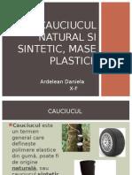 Cauciucul Natural Si Sintetic, Mase Plastice