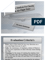 Decision Analysis for Airflight
