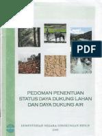 Pedoman Penentuan Status Daya Dukung Lahan Dan Daya Dukung Air