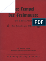 Lerich, Dr. Konrad - Der Tempel Der Freimaurer, U. Bodung Verlag