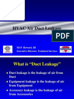 HVAC Air Duct Leakage
