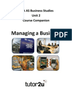 AQA as Business Unit 2 Course Companion