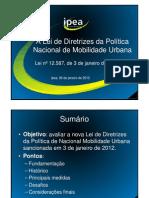 SLIDES IPEA - Estudo Analisa Nova Lei Da Mobilidade Urbana