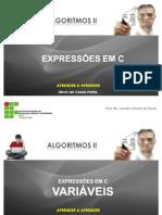 Aula 2 - Expressões na linguagem C - Variáveis