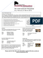 Senior Programs  - Jan/Feb/March 2012