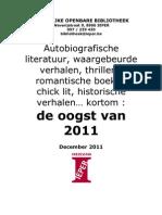 Aanwinsten romans 2011