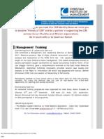 CIM Ministry Update (Jan. 2012)