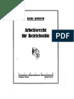 Karl Korsch - Arbeitsrecht für Betriebsräte (1922)