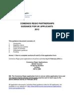 Comenius Regio Application Guidance 2012