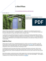Easy DIY Garden Shed Plans - 1