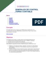 Temas Generales de Control Interno Contable
