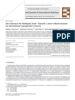 The Tolerance for Ambiguity Scale_Towards a More Refined Measure for International Management Research