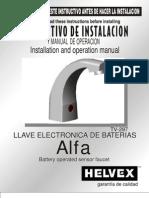 HELVEX_Llave Electronic A de Baterias v-297