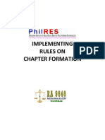 PhilRES - Implementing Rules on Chapter Formation