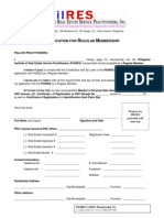 PhilRES Chapter Formation - Application for Regular Membership