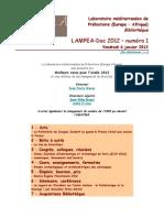 LAMPEA-Doc 2012 – numéro 1 / Vendredi 6 janvier 2012
