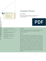 Consumer Finance - Peter Tufano