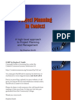 Project Planning in Context