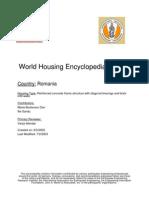 World Housing Encyclopedia Report Romania
