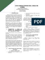 PARÀMETROS DE CONDUCTIVIDAD DEL CABLE DE COBRE