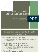 Presentation - Community Health Status Assessment