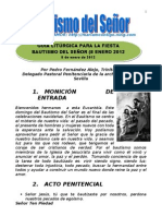 GUIA LITÚRGCA FIESTA BAUTISMO DEL SEÑOR | ALIANZA DE AMOR