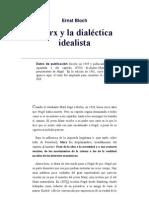 Marx y la Dialéctica Idealista