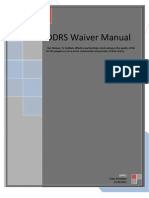 DDRS Waiver Manual 2011
