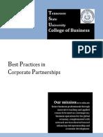 COB Corporate Partnerships and COB Fact Sheet