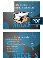 Study Design in Scientific Research