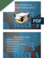 Study Design in Scientific Research