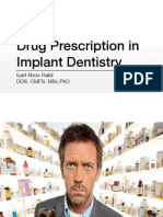 Drug Prescription in Dentistry