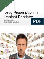 Drug Prescription in Dentistry