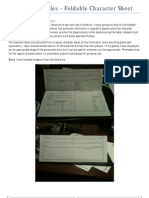 Dresden Files Foldable Character Sheet