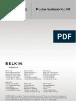 Belkin Router  F5D8231-4 Manual Español