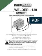 120 Amp Arc Welder Manual 98870