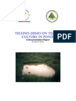 Tech No Demo on Tilapia Culture in Ponds