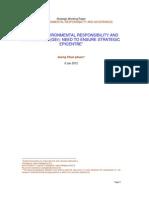 Global Environmental Responsibility and Governance(6jan2012)