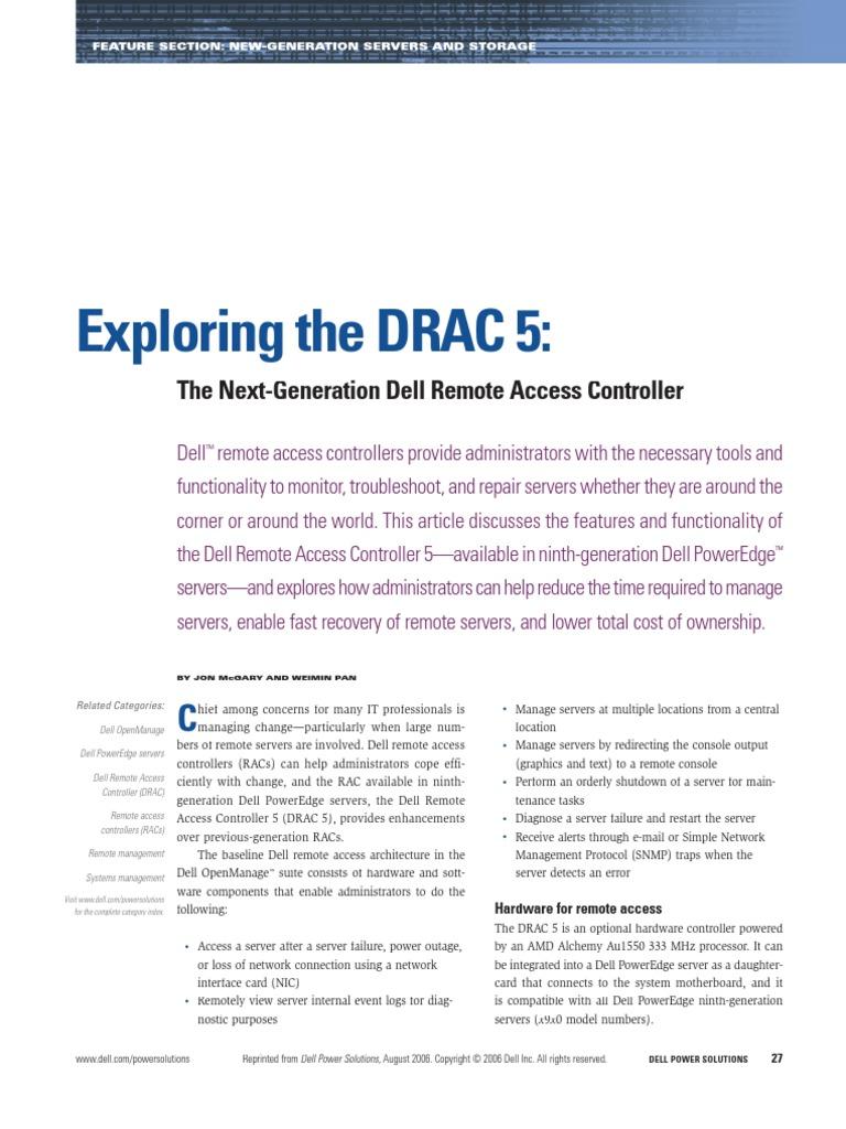 Dell Drac1 | Computer Network | Computer Networking